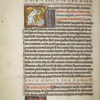 Martyrologe de Saint Germain des Prés. Folio 110