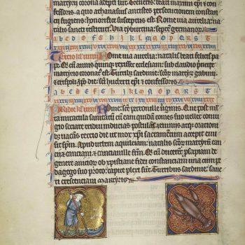 Martyrologe de Saint Germain des Prés. Folio 90