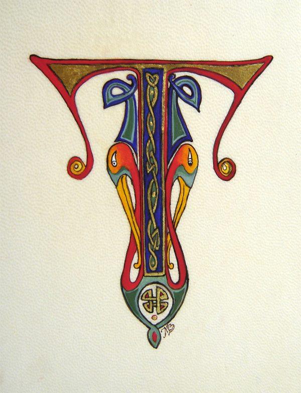 Stage d'enluminure - Initiale T celtique