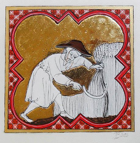 Stage d'enluminure - Enluminure illustrant la pédiode des moissons