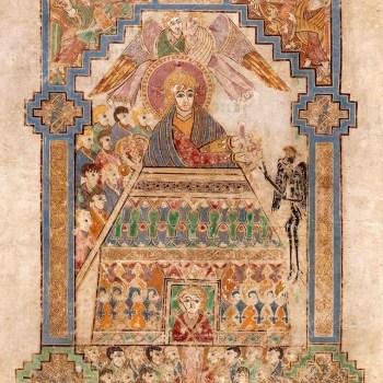 La tentation du Christ (folio 202 du livre de Kells).