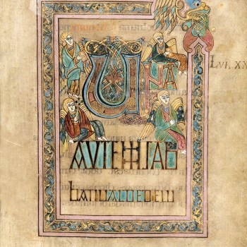 Page d'ouverture de l'évangile de Saint-Luc (folio 285 du libre de Kells).