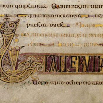 Livre de Kells - détail du folio 16v