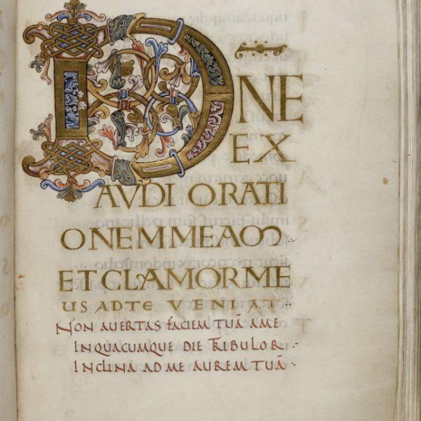 Initiale D - Folio 125r - Psautier d'Oswald