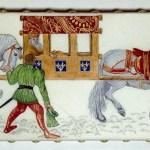 Charles IV de Bohême arrivant à Saint-Denis