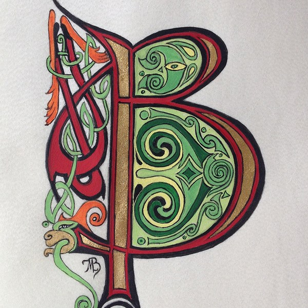Initiale B celtique