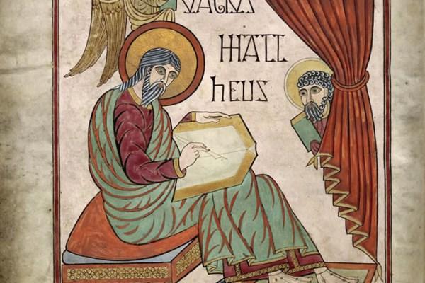 Lindisfarne Folio 25 - Saint Matthieu