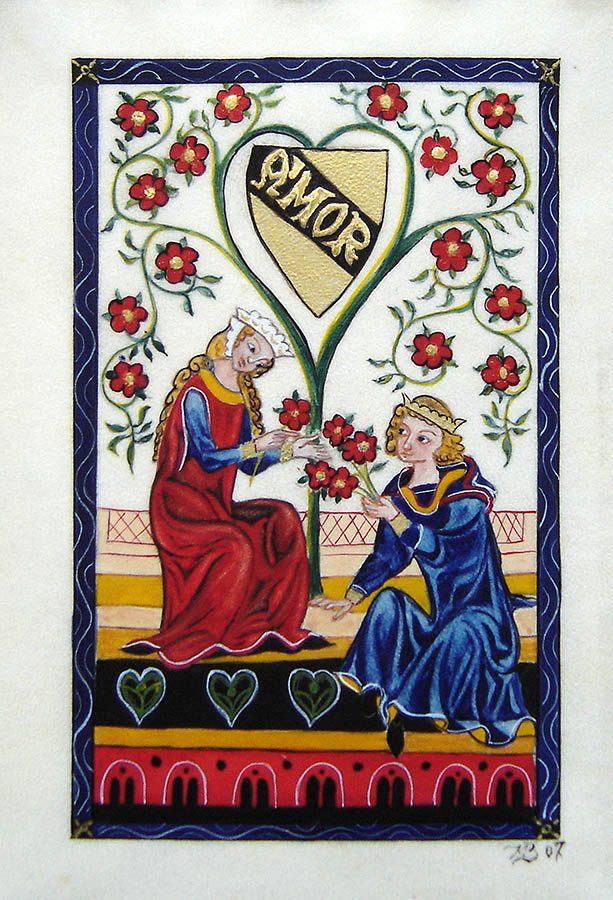 Amor - Enluminure - Codex Manesse