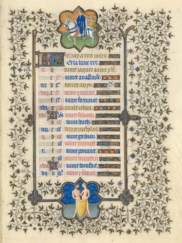 Belles heures du Duc de Berry - Folio 6r