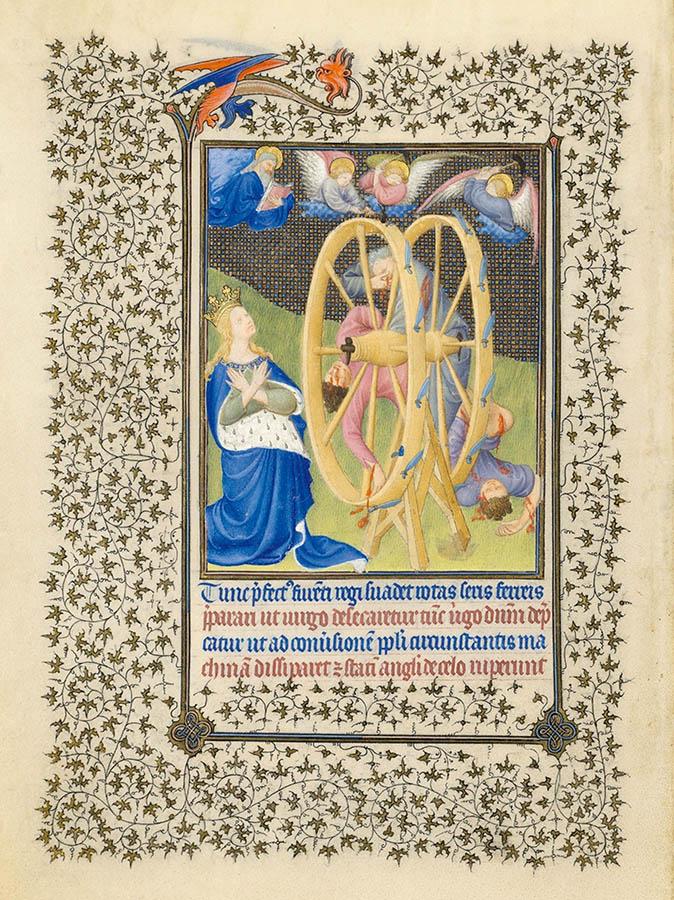Belles heures du Duc de Berry - Sainte Catherine - Folio 18v