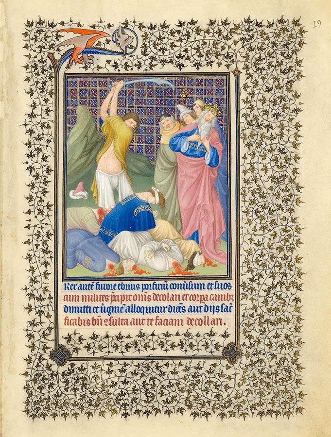 Belles heures du Duc de Berry - Sainte Catherine - Folio 19r