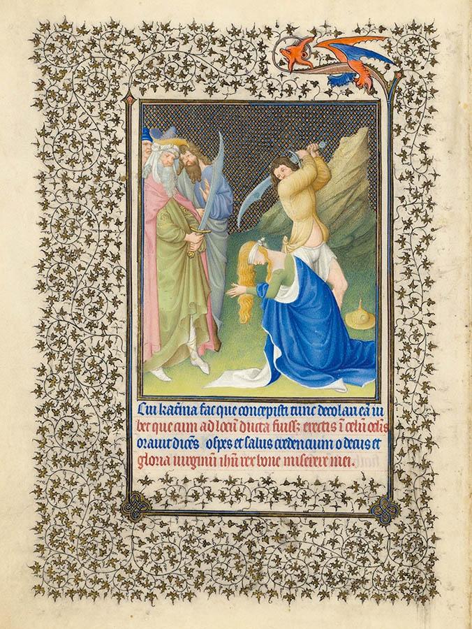 Belles heures du Duc de Berry - Sainte Catherine - Folio 19v