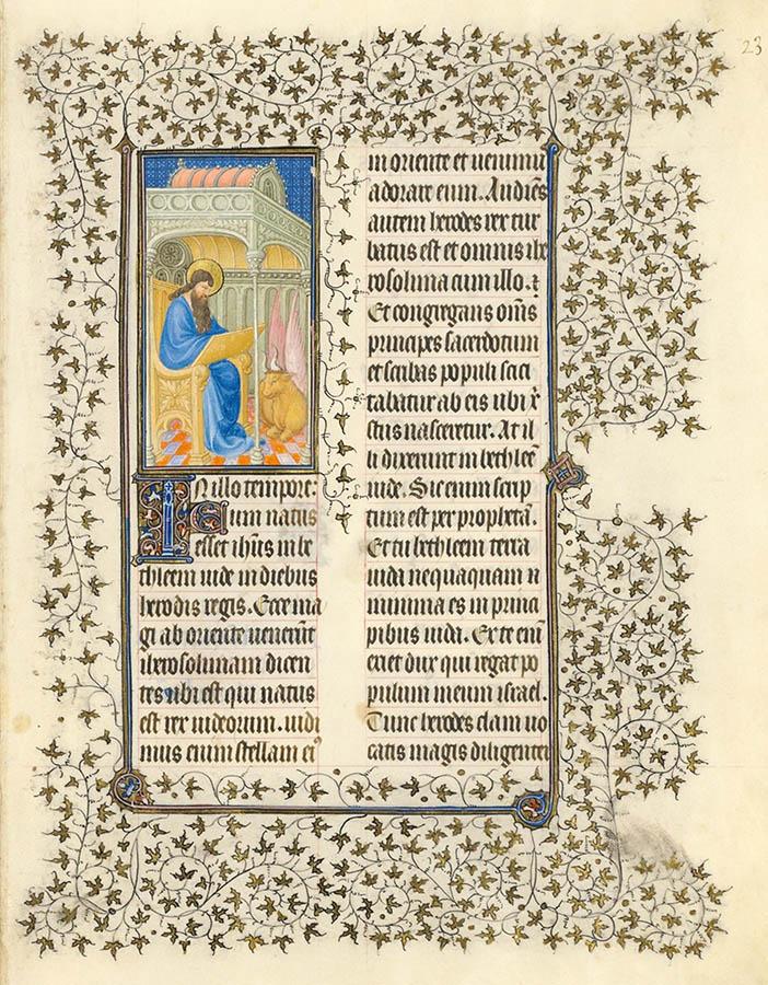 Belles heures du Duc de Berry - évangiles - Folio 23r