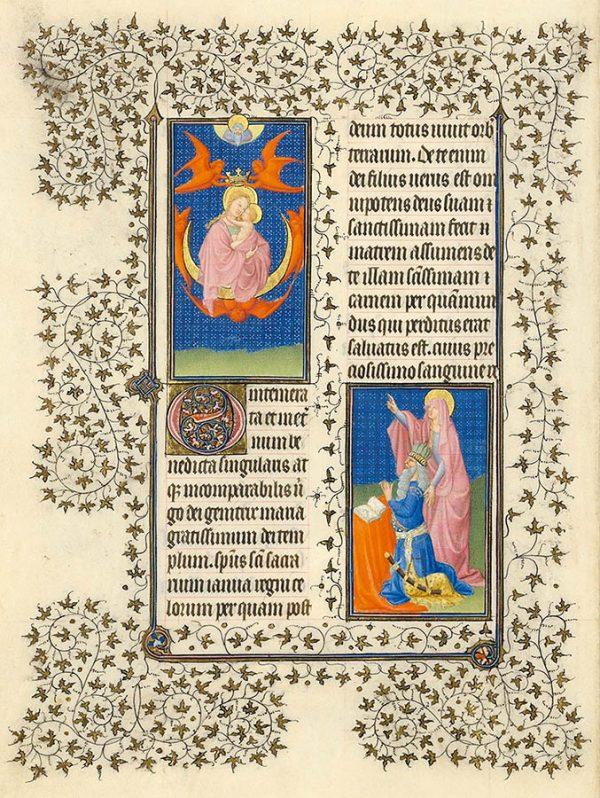 Belles heures du Duc de Berry - Auguste et la Sibylle de Tibur.