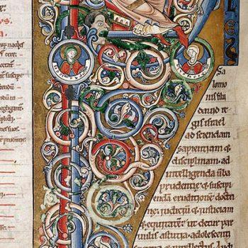 Bible d'Arnstein - Folio 57v - Initiale P