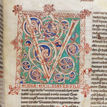 Bible d'Arnstein - Folio 65r - Initiale V