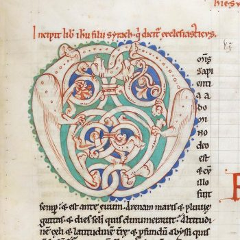Bible d'Arnstein - Folio 75r - Initiale O