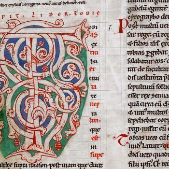 Bible d'Arnstein - Folio 120r - Initiale T
