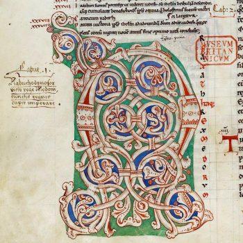Bible d'Arnstein - Folio 123v - Initiale N