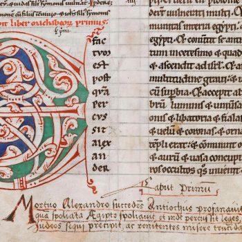 Bible d'Arnstein - Folio 132v - Initiale E