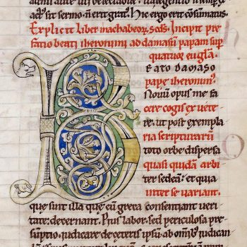 Bible d'Arnstein - Folio 150v - Initiale B