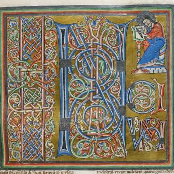 Bible d'Arnstein - Folio 166 (zoom) - Saint Marc - Initium