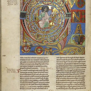 Bible d'Arnstein - Folio 173v - Saint Luc