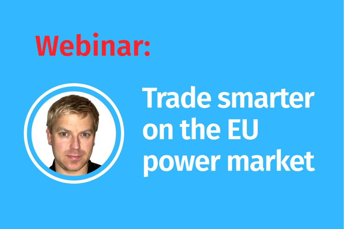 LIVE Webinar-Trade smarter on the European power market