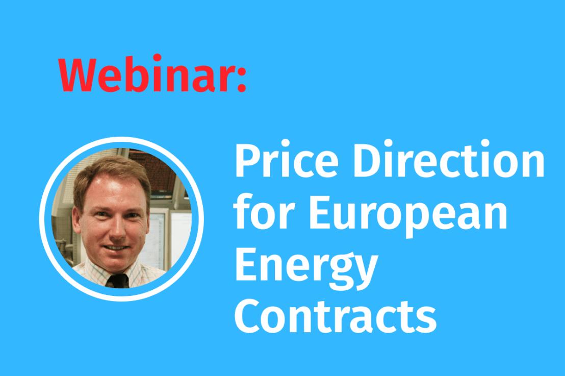 Webinar: Preisentwicklung aller wichtigen, europäischen Energiekontrakte