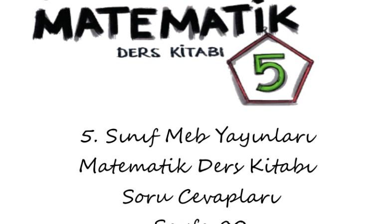 5. Sınıf Meb Yayınları Matematik Ders Kitabı Soru Cevapları Sayfa 80