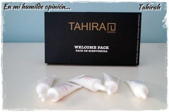 Tahirah Shop, cosmética facial y corporal sin parabenos. Mi experiencia con el pack de bienvenida.