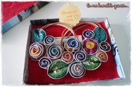 Collar hecho a mano con cápsulas de café, artesanía, materiales reciclados
