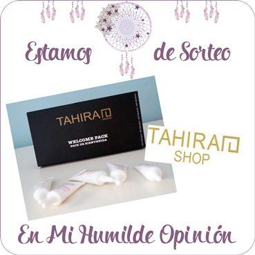 Sorteo pack bienvenida Tahirah Shop