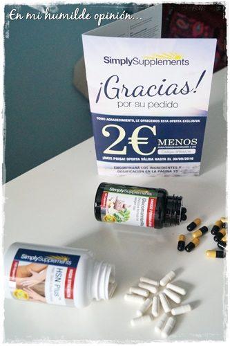 Glucomannan Max, y HSN Plus, Complementos nutricionales de Simply Supplements