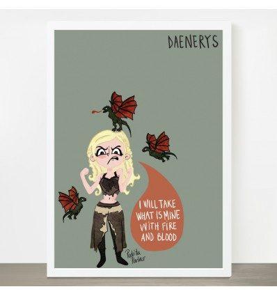 Lámina Daenerys de Juego de tronos Pedrita Parker