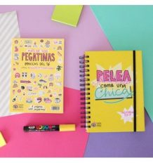 Pack agenda anual 2017 + pegatinas extras Pedrita Parker
