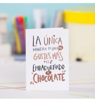 Tarjeta de felicitación LOVER Chocolate Pedrita Parker