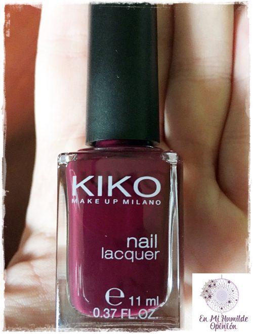 Esmalte de uñas / Nail Lacquer 243 Plum Red de Kiko Cosmetics | En ...