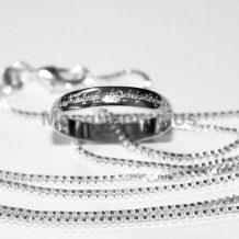 Anillo el señor de los anilos de acero galvanizado con bolsa y caja