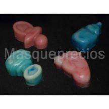 Jabón artesano con formas infantiles de bebé glicerina