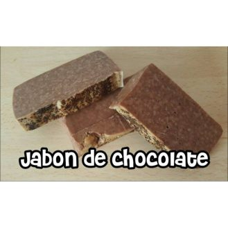 Jabón artesano de chocolate y manteca de cacao