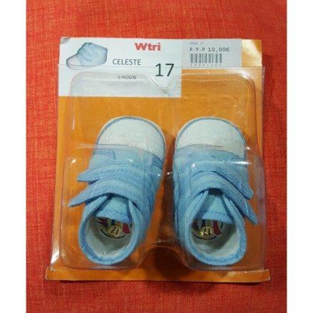 Zapatos de bebe, bambas celestes