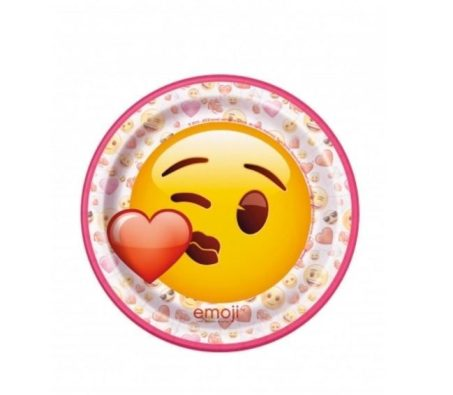 8 Platos pequeños de cartón Emoji