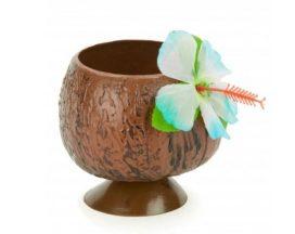 Copa hawaiana en forma de coco