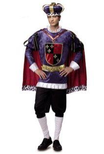 Disfraz de Rey Medieval de Lujo para Hombre talla M-L