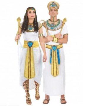 Disfraz de pareja real egipcia
