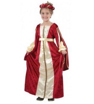 Disfraz de reina medieval para niña