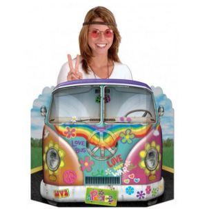 Muro de cartón bus hippie