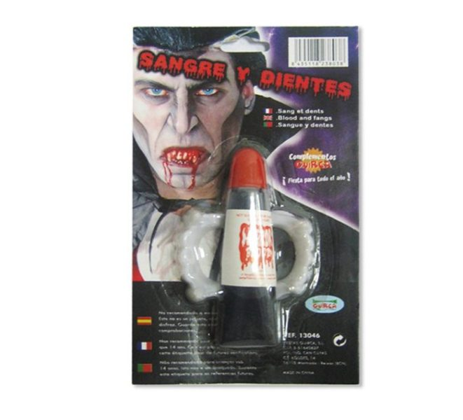 Set de sangre y dientes de Vampiro para Halloween