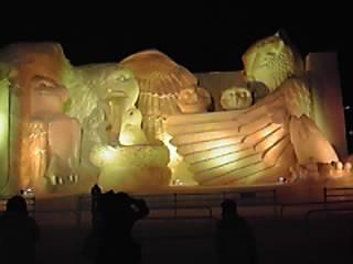 Sculpture du festival de la neige à Sapporo